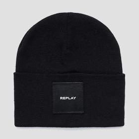 Solid-coloured REPLAY beanie