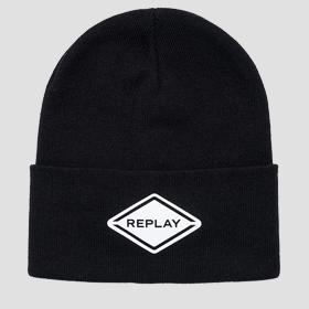 REPLAY beanie in cotton blend