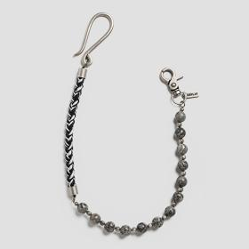 Metal and stones jeans chain