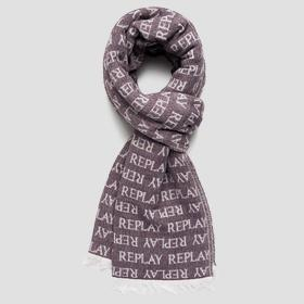 REPLAY scarf in jacquard wool blend