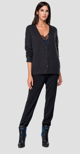Two-button cardigan