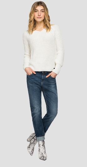 Cotton blend tricot sweater