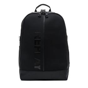 Neoprene backpack with faux leather details fm3280.000.a0315