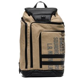 Canvas backpack with faux leather detailing fm3296.000.a0332