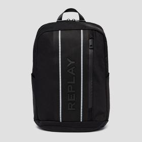 Nylon and denim REPLAY backpack