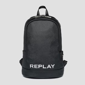 REPLAY backpack with saffiano effect