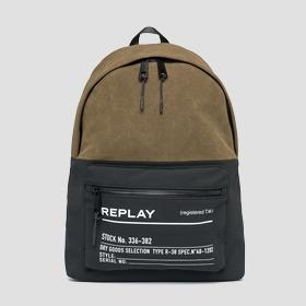 Two-tone fabric REPLAY backpack