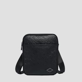 Crossbody bag with all-over REPLAY writing