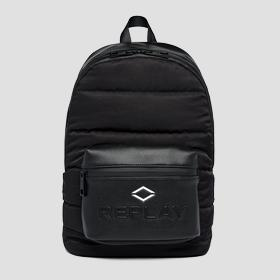 REPLAY padded backpack with crinkle effect