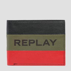 Printed striped REPLAY wallet