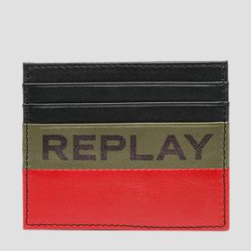 Leather card holder REPLAY