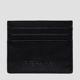 REPLAY leather cardholder