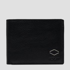 REPLAY hammered leather wallet