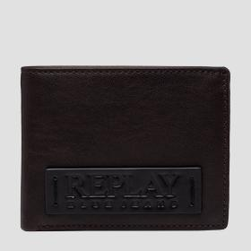 REPLAY BLUE JEANS hammered leather wallet