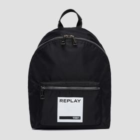 Unisex nylon backpack with pocket
