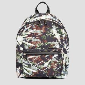 Printed nylon backpack REPLAY