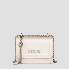 REPLAY crossbody bag with saffiano effect