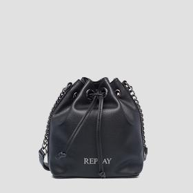 REPLAY bucket bag with strap