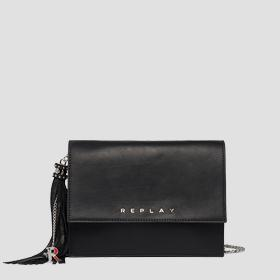 Crossbody bag in plain cow leather