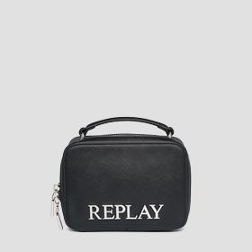 REPLAY rigid bag with saffiano effect