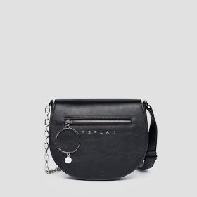 REPLAY rounded bag with shoulder strap