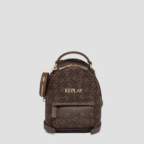 Backpack with all-over REPLAY print
