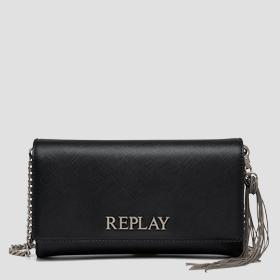 REPLAY solid-coloured purse
