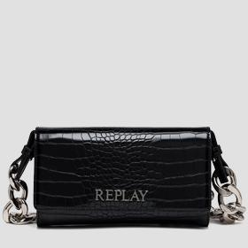 REPLAY purse with croc print