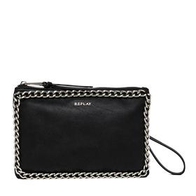 Faux leather clutch with chain detailing fw3622.001.a0180c