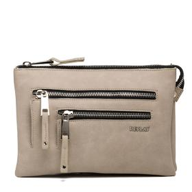 Matte faux leather clutch with pockets fw3663.000.a0015