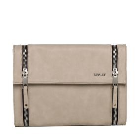 Faux leather clutch with zip detailing fw3664.000.a0015