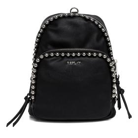 Beaded faux leather backpack fw3666.000.a0180c
