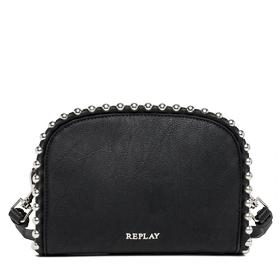 Beaded faux leather clutch fw3667.000.a0180c