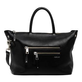 Leather bag with external pockets fw3674.000.a3127