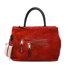 Suede leather bag fw3674.002.a3054