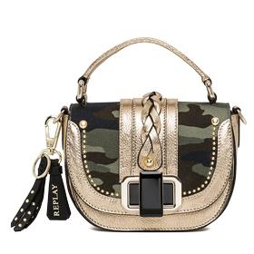Camouflage canvas and leather handbag fw3681.001.a0050