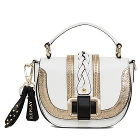Leather handbag with golden details fw3681.001.a3158