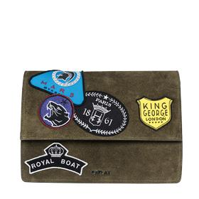 Suede bag with patches fw3709.001.a3054