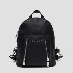 Backpack with double zipper