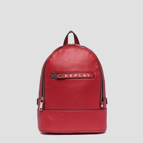 Backpack with logoed zipper puller