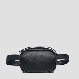 Waist bag with logoed zipper puller