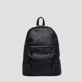 Backpack in crinkle eco-leather