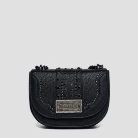 Shoulder strap with studs and chain