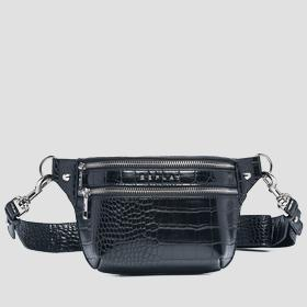 Belt bag with crocodile effect