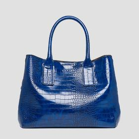 Handbag with crocodile effect