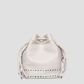 Bucket bag in hammered eco-leather