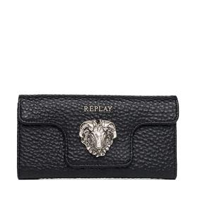 Faux leather wallet with chain fw5156.000.a0337
