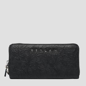 Wallet in crinkle nappa leather