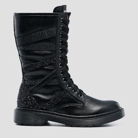 Girls' NEW YORK lace up high boots