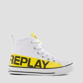 Boys' CALAFAT lace up mid cut sneakers